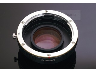 Canon EOS (EF) lens mount focal reducer speed booster adapter to m4/3 mft AF100 OM-D G-M1